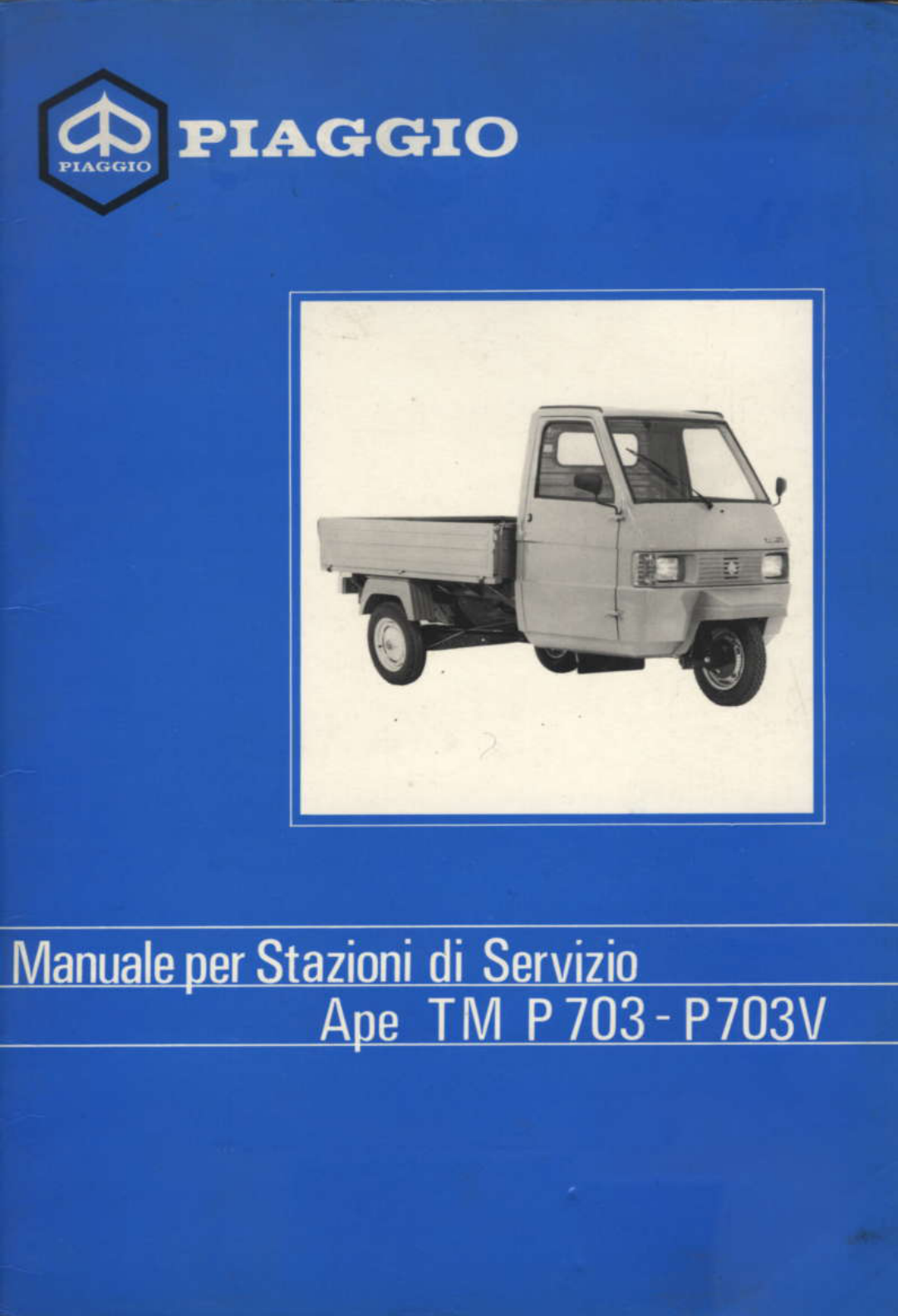 See our other Piaggio APE Manuals: