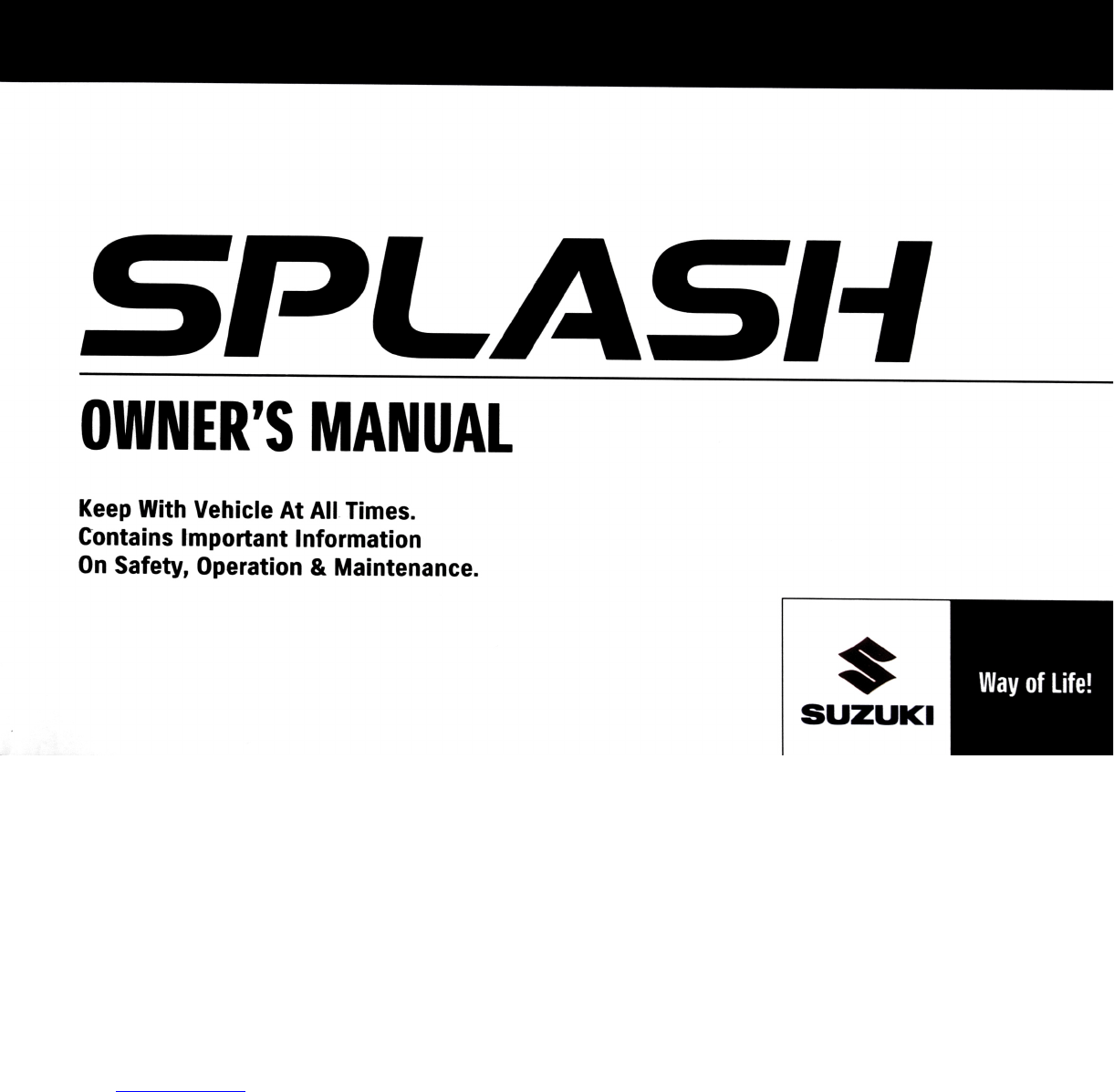 suzuki splash 2012 owners manual pdf rh manuals co repair manual suzuki splash manual suzuki splash