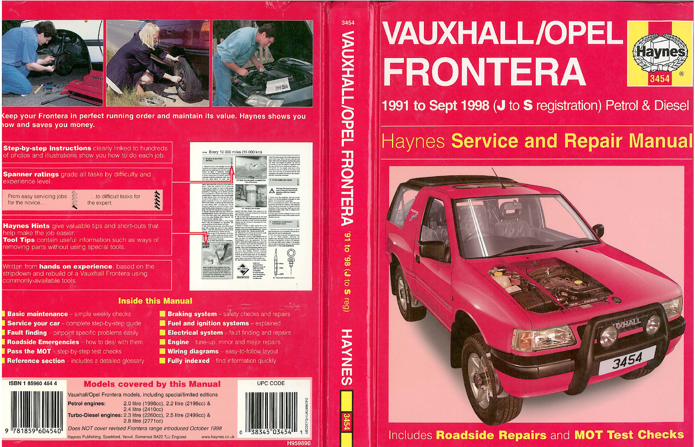 See our other Opel Frontera Manuals: Opel Frontera 1991 1998 Workshop ...