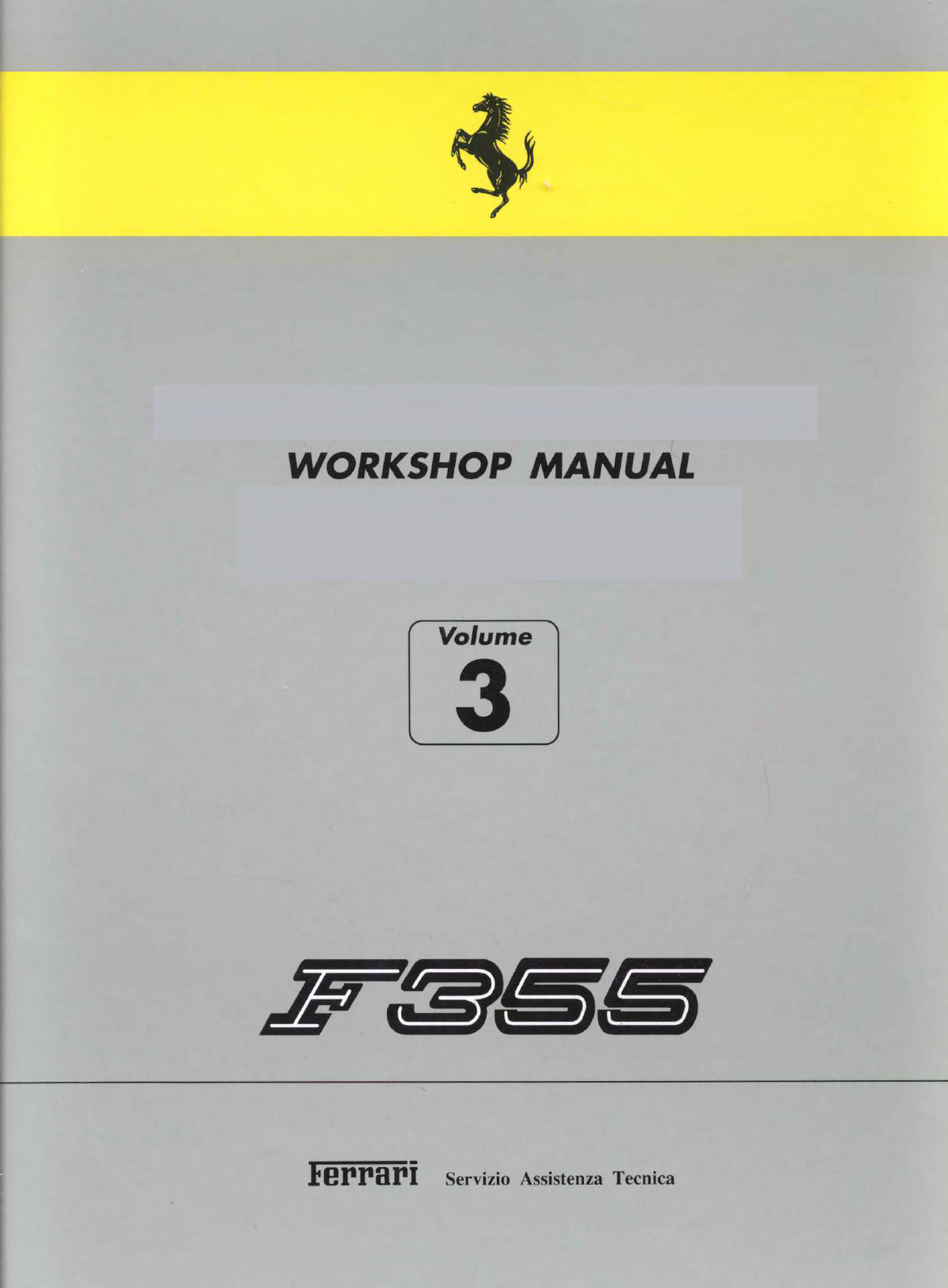 See our other Ferrari 355 Manuals: