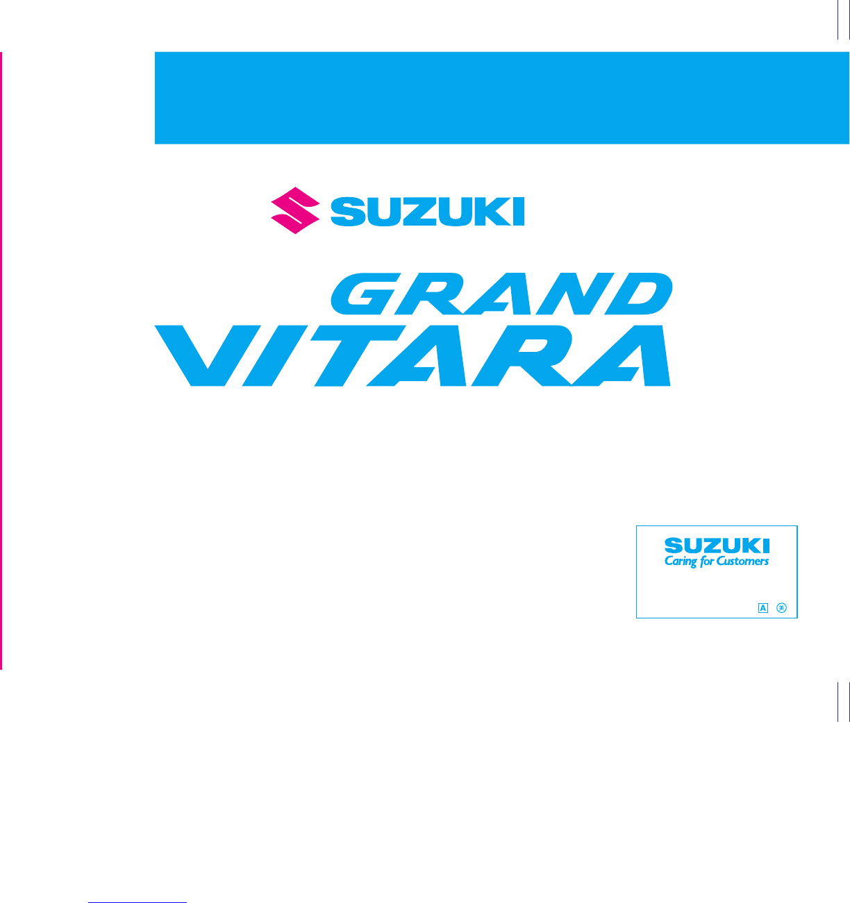 2007 suzuki grand vitara owners manual pdf rh manuals co grand vitara owners manual pdf grand vitara owners manual pdf