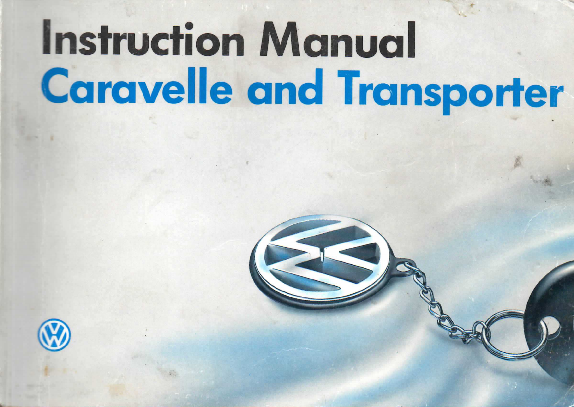 volkswagen t4 caravelle 1992 owners manual pdf rh manuals co Service Manuals Ford Owner's Manual