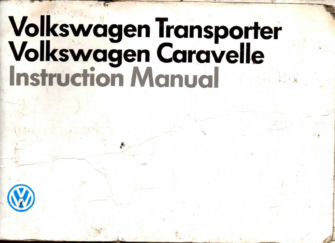 volkswagen t3 caravelle 1987 owners manual pdf rh manuals co User Manual PDF Service Manuals