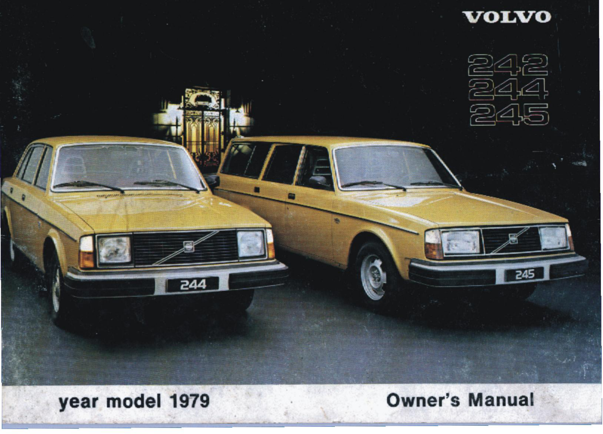 Volvo 244 1979 Owners Manual USA and Canada PDF