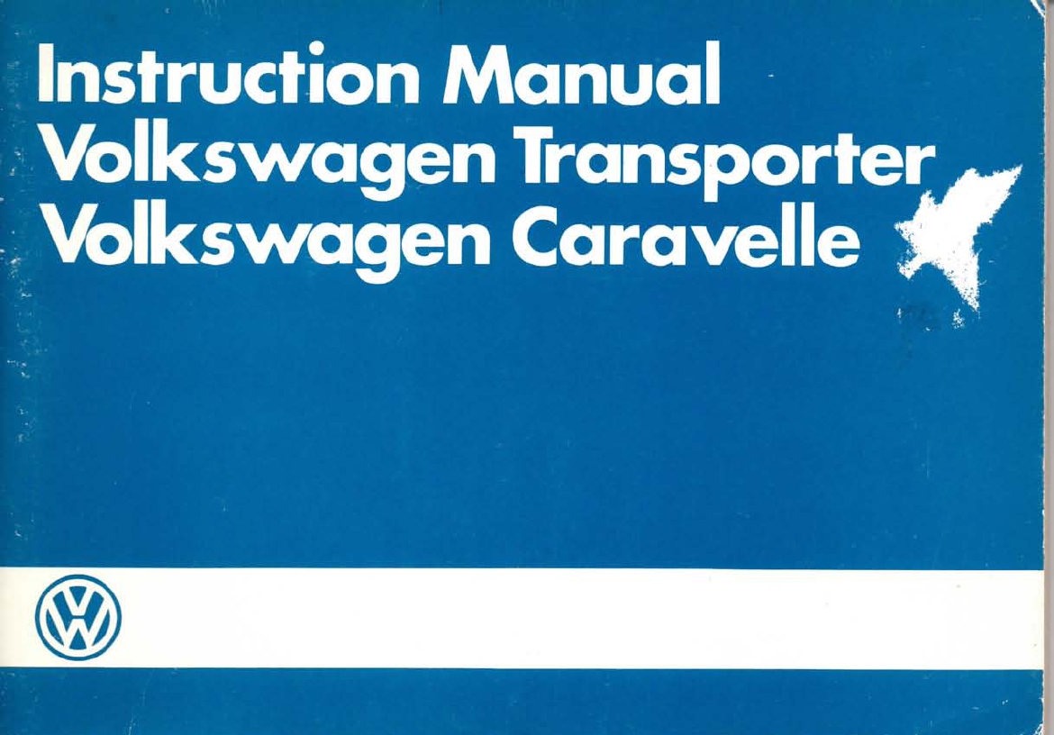 volkswagen t3 other 1985 owners manual westfalia t3 pdf rh manuals co Repair Manuals Service Manuals