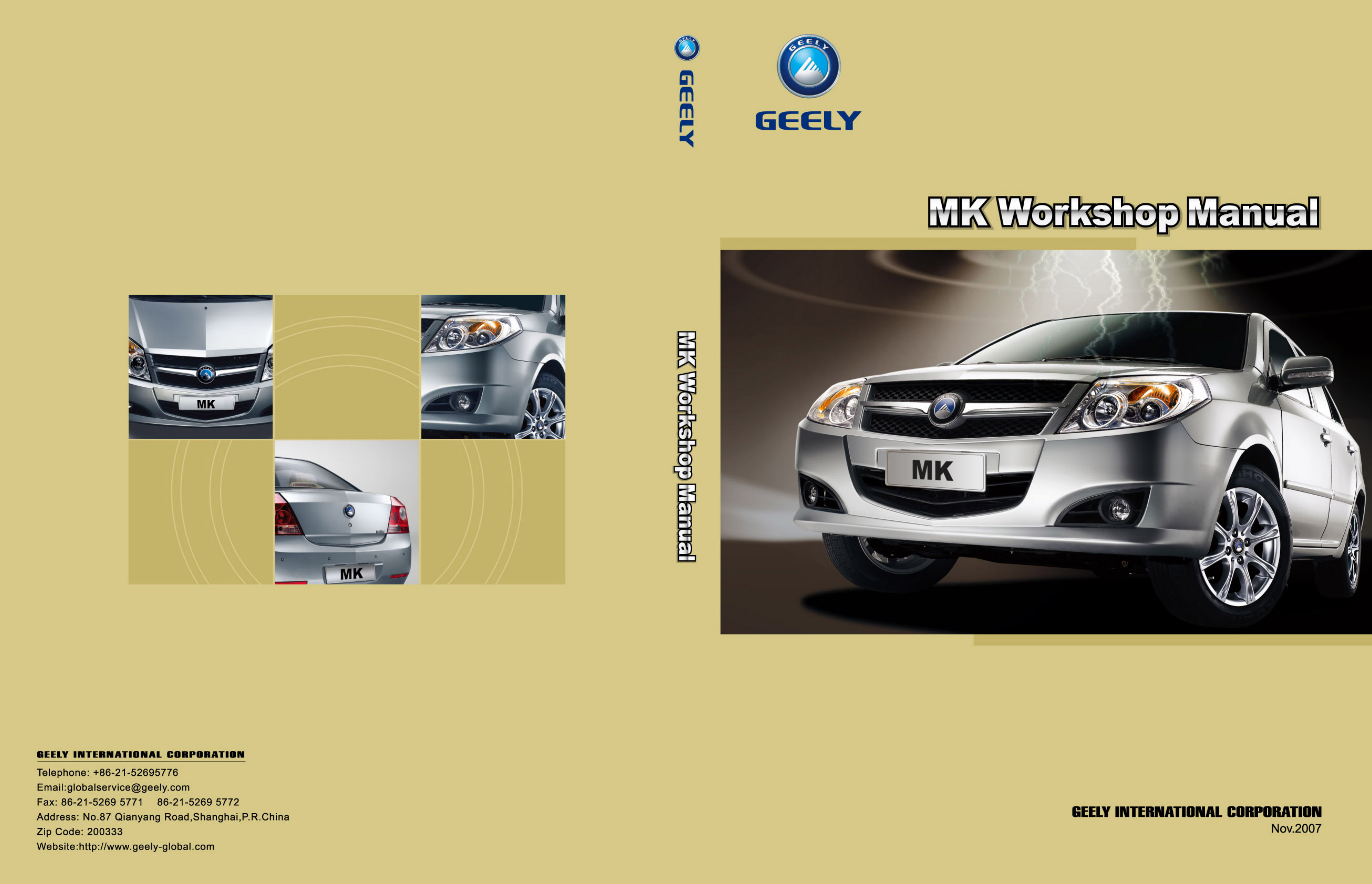 See our other Geely MK Manuals:
