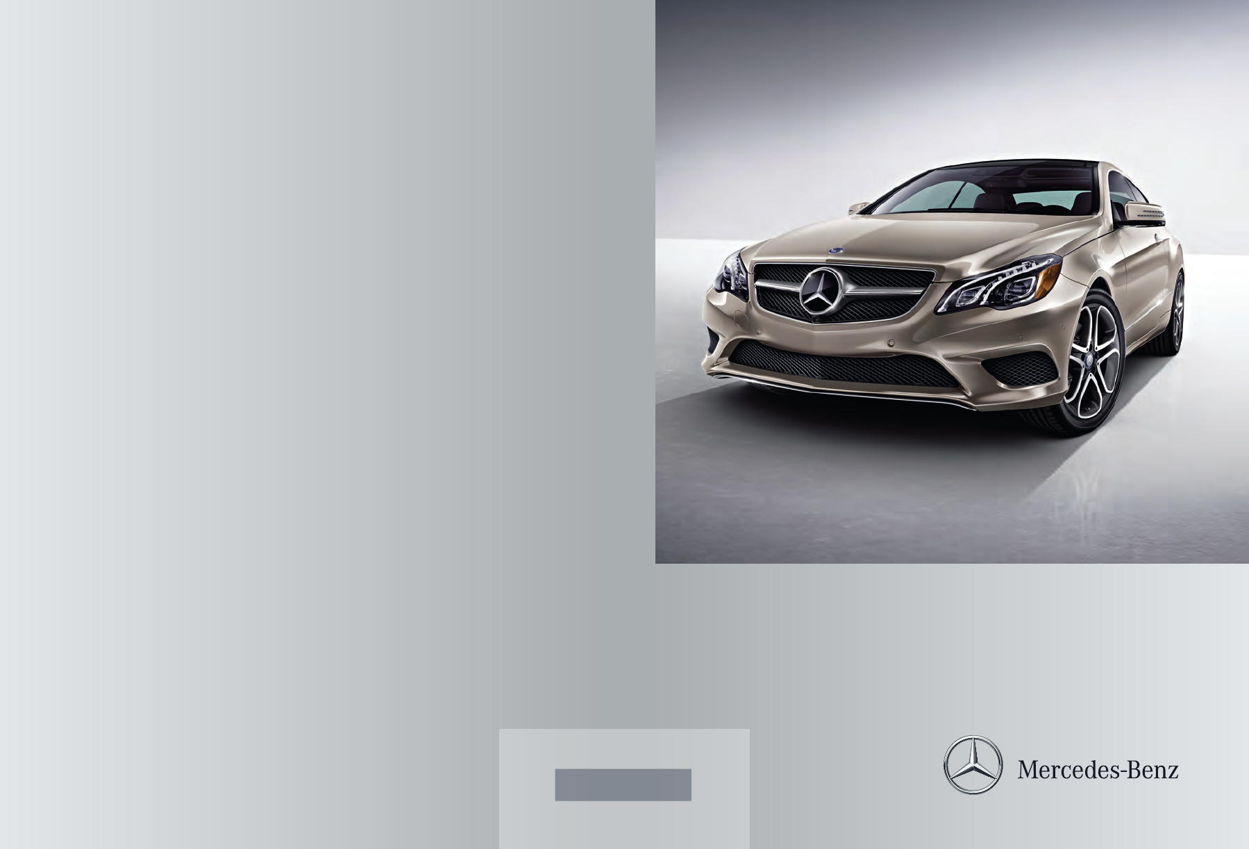 2014 mercedes benz e class owners manual pdf for Mercedes benz e class manual