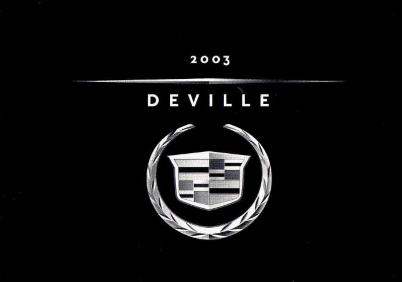 See our other Cadillac Deville Manuals: