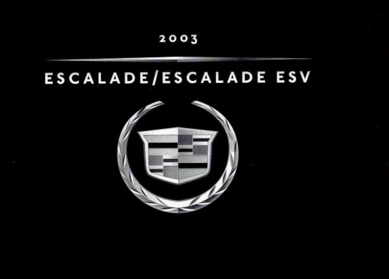 See our other Cadillac Escalade Manuals: