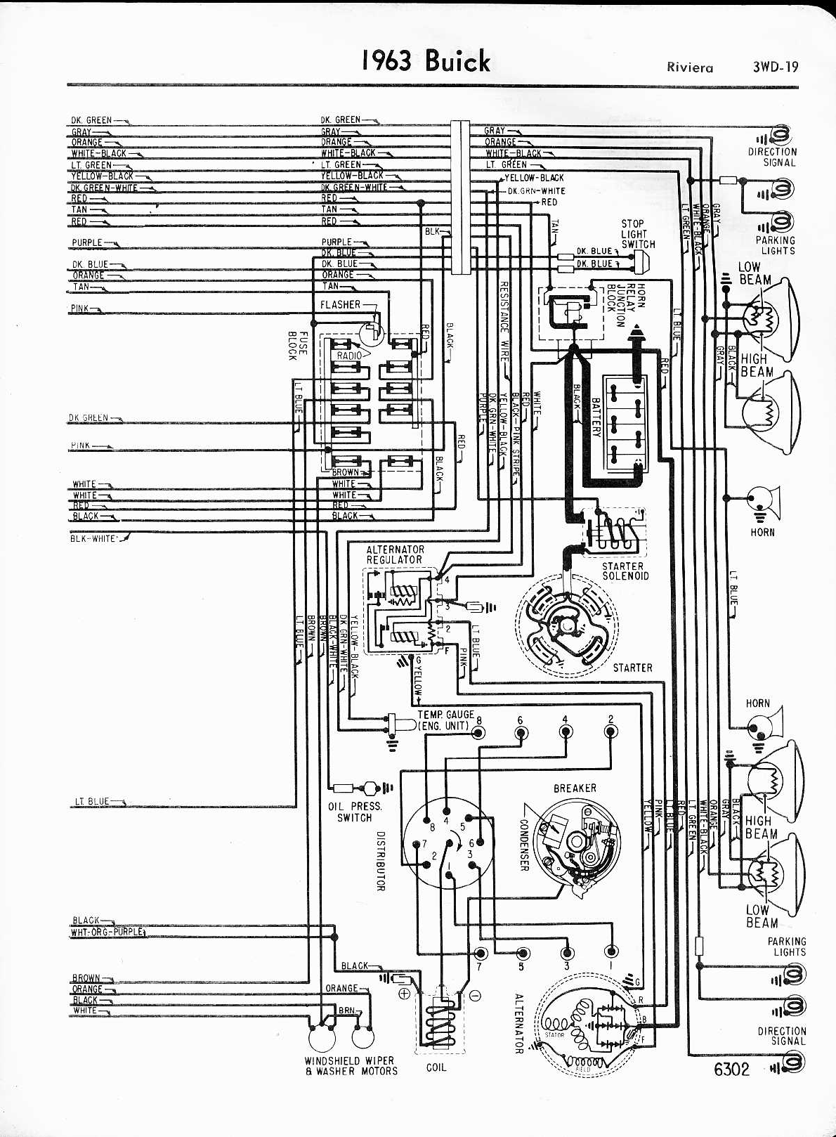 buick riviera 1963 1965 misc documents wiring diagrams pdf rh manuals co 2002 Buick Park Avenue Wiring-Diagram 2000 Buick LeSabre Wiring-Diagram