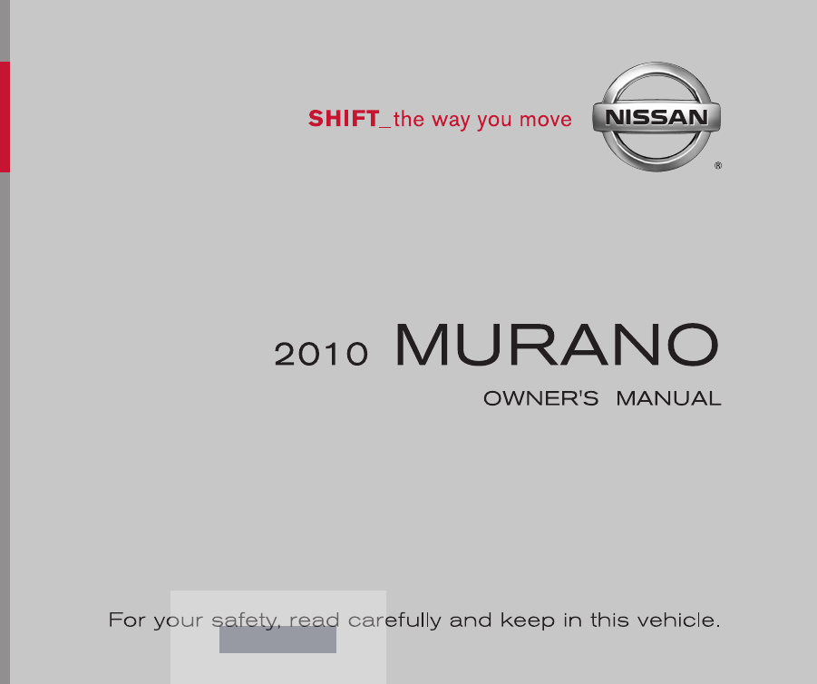 2010 nissan murano owners manual pdf rh manuals co nissan owners manual online nissan owners manual free