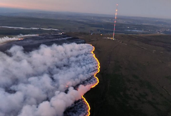 Firefighters battle 'aggressive' moorland blazes as major incident declared