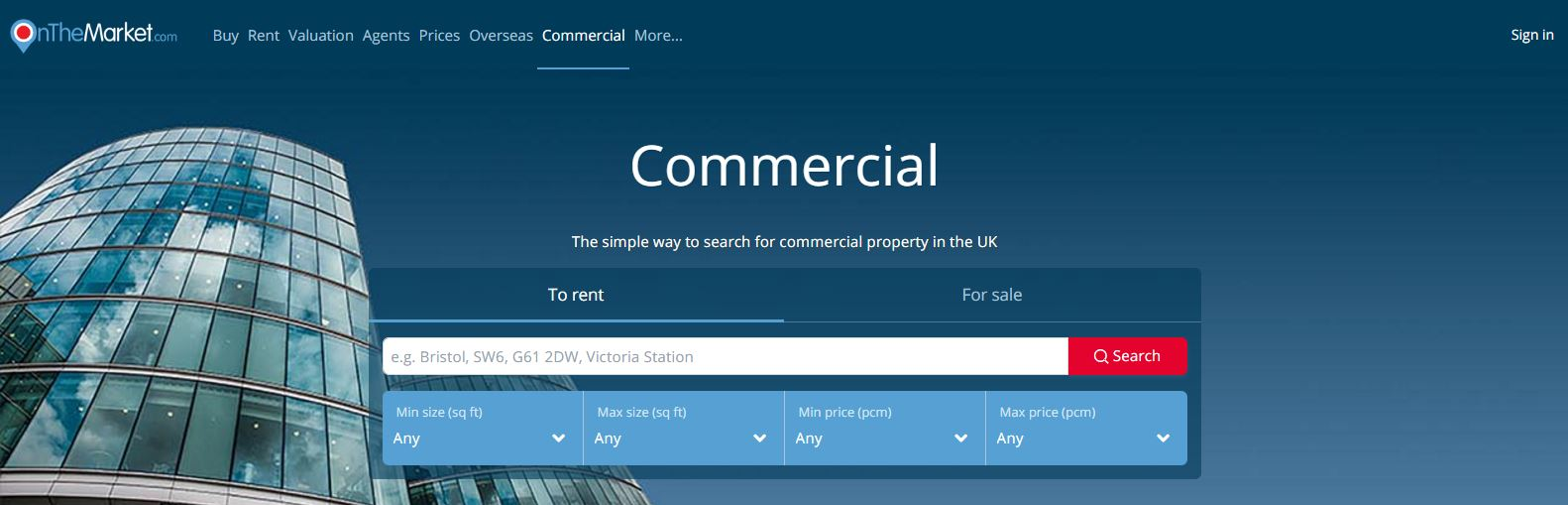 Onthemarket.com commercial screen shot