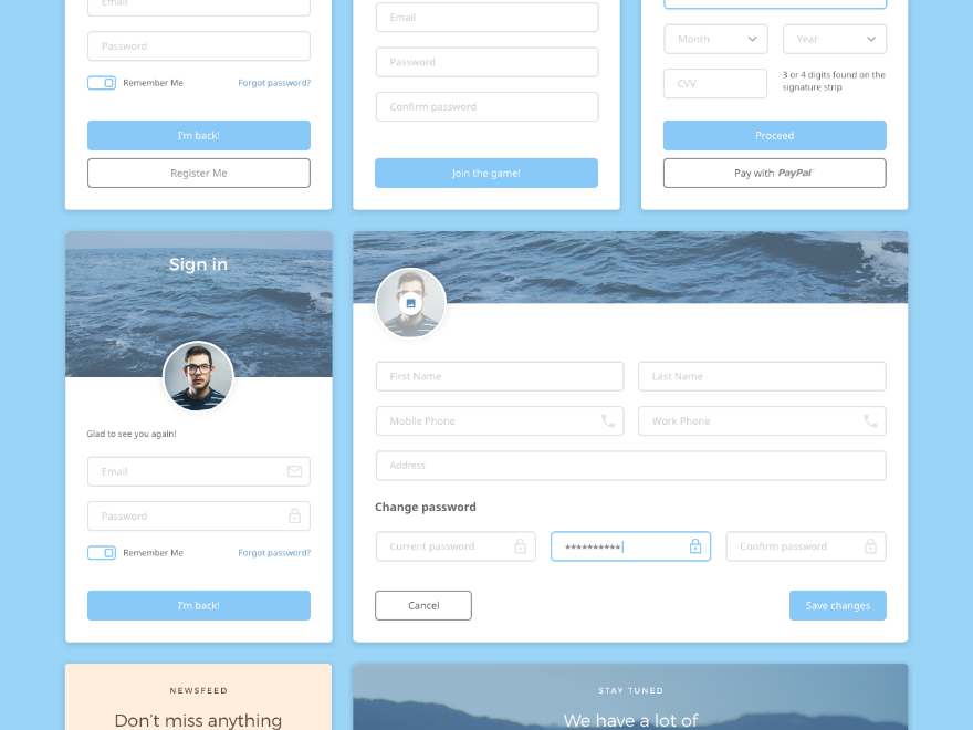 Dreamy UI Kit for Adobe XD by iamnickparker  Get it on