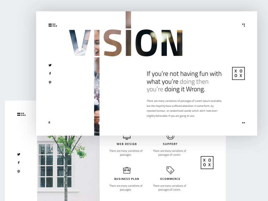 xoxo - minimal presentation templatemarkzugelberg. get it on, Presentation templates