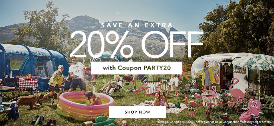 20% Camping and Tents