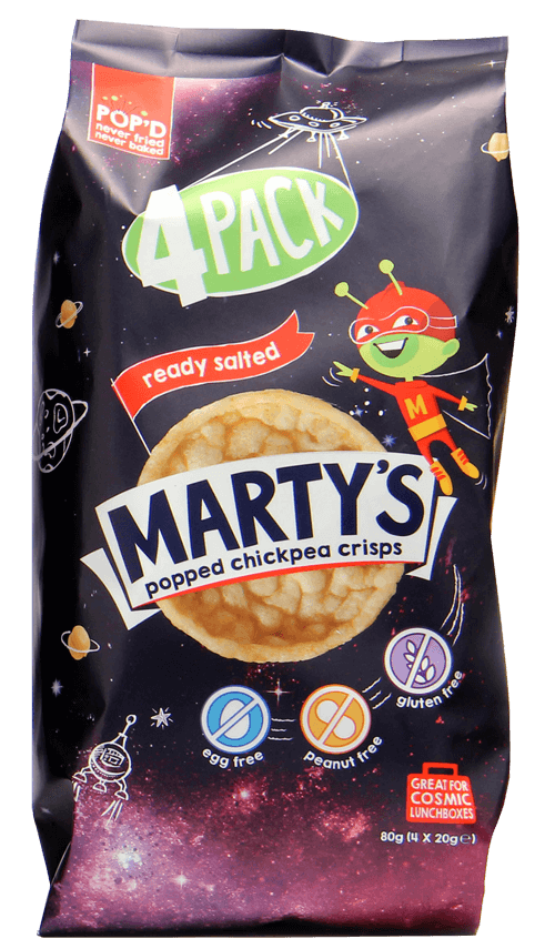 Ready Salted Popped Chickpea Crisps (4-pack)