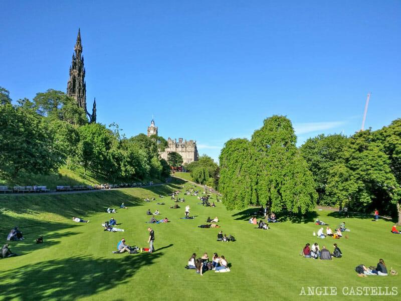 Ruta-New-Town-Edimburgo-Princes-St-Gardens
