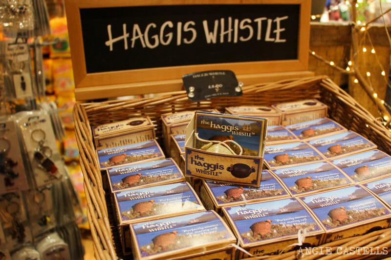 Souvenirs de Escocia - Haggis whistle, un silbato para haggis