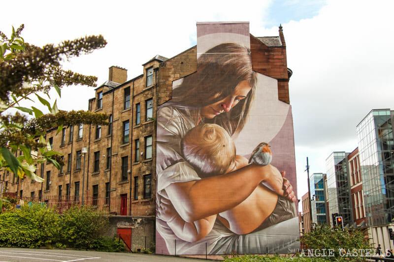 Los mejores murales de Glasgow - St Mungo y St Enoch