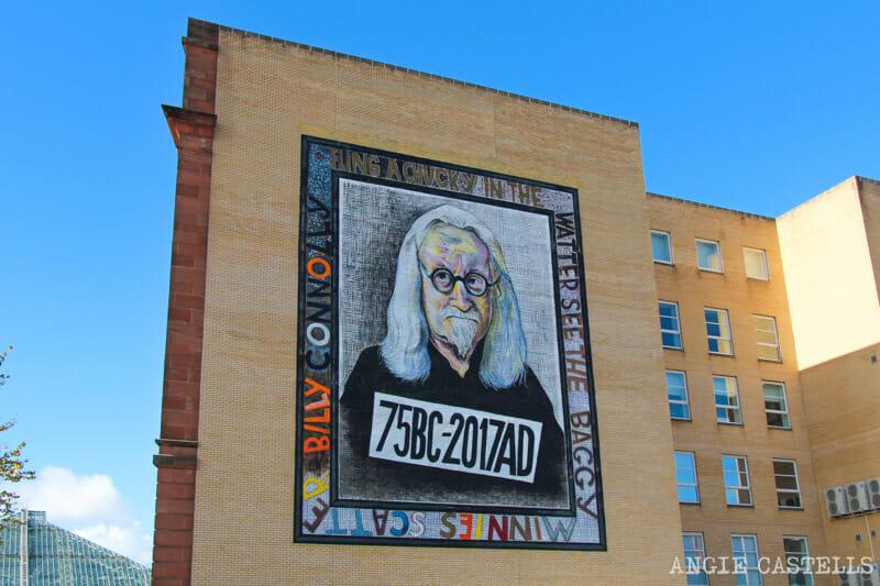Ruta por los murales de Glasgow - Billy Connolly