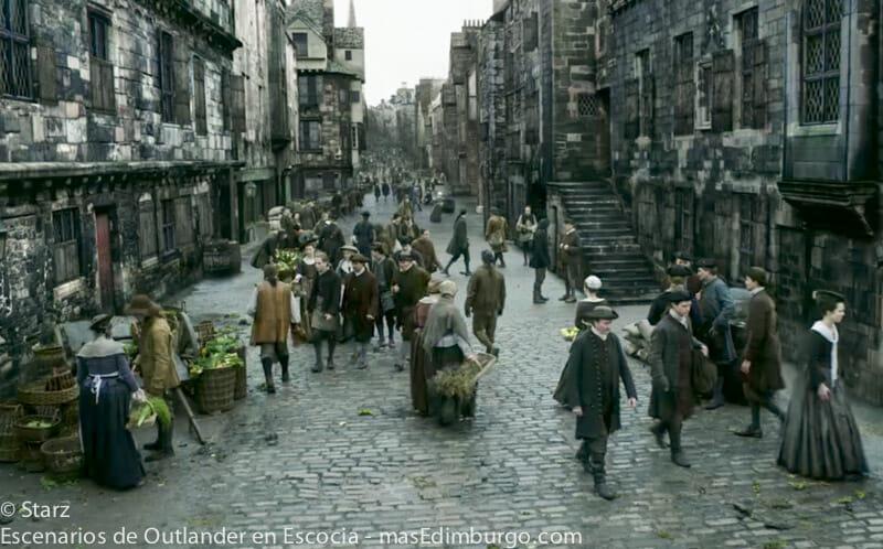 Lugares de rodaje de Outlander en Edimburgo - La Royal Mile