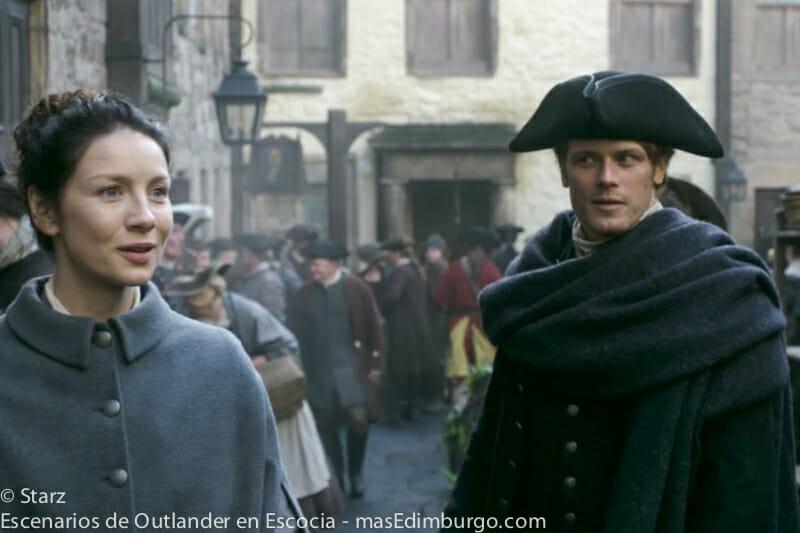Lugares de rodaje de Outlander en Edimburgo - El callejón Tweeddale Court