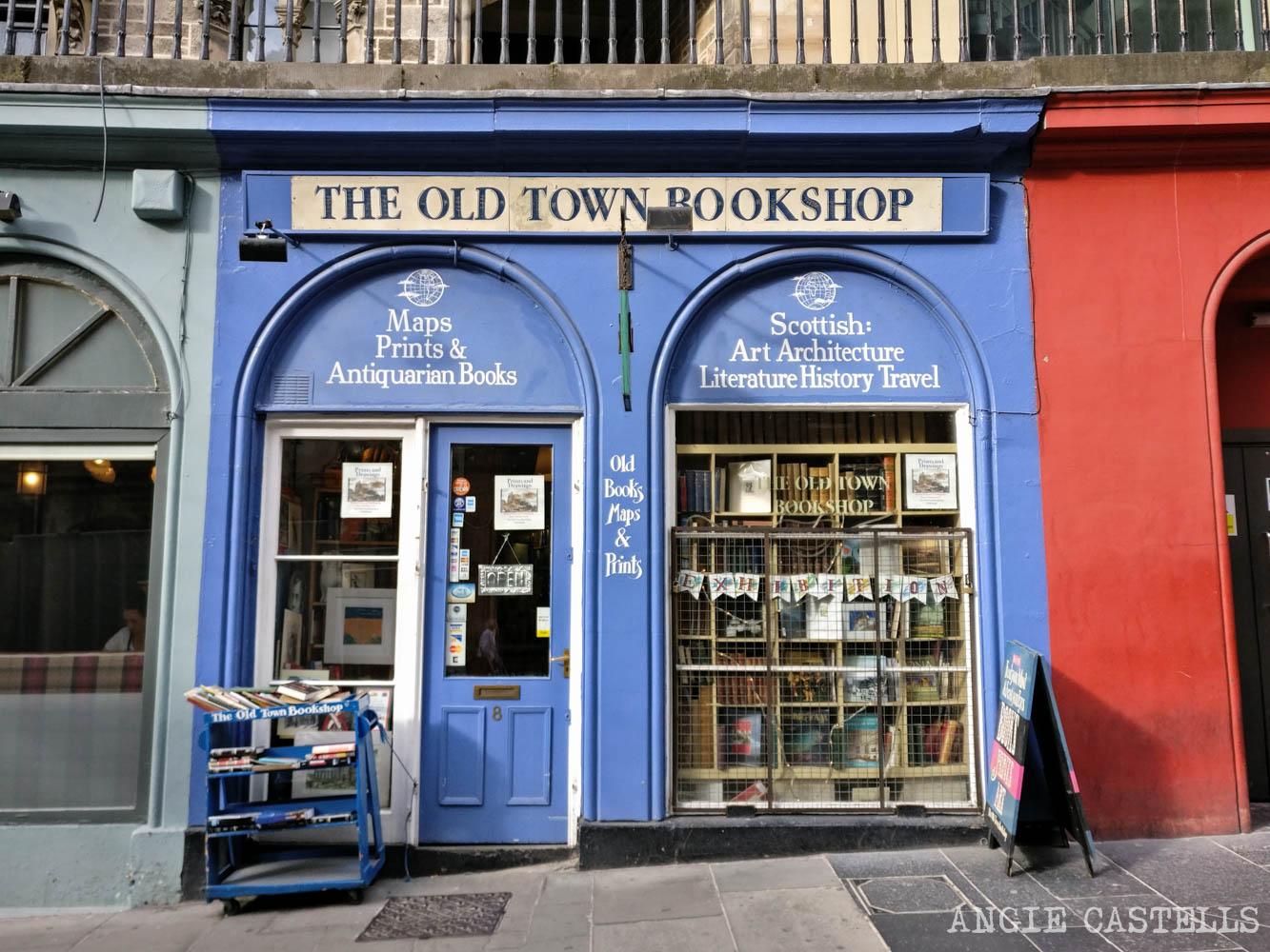 Mejores tiendas Edimburgo regalos originales The Old Town Bookshop