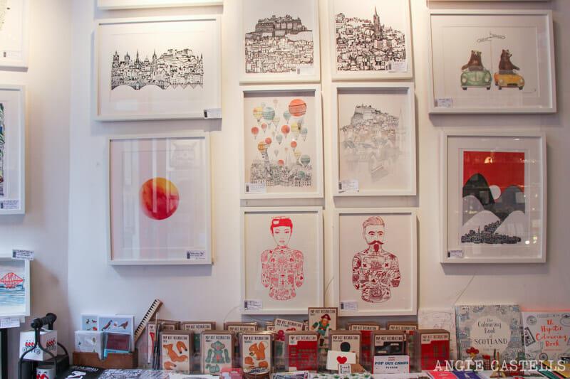 Mejores tiendas Edimburgo regalos originales The Red Door Gallery 2
