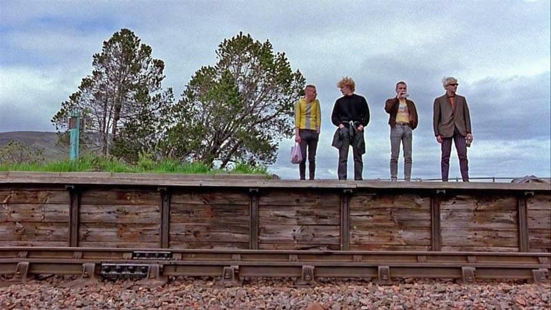 Escenarios de cine en Escocia: los chicos de Trainspotting en Rannoch Moor