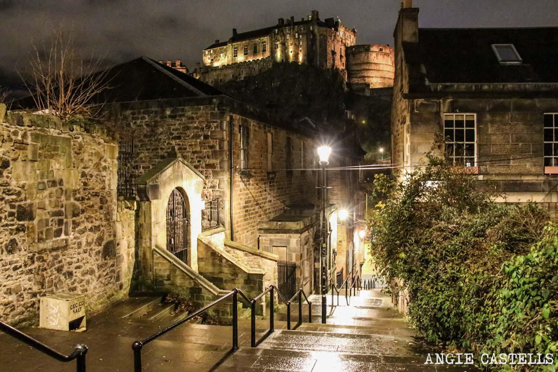 Dónde sacar las mejores fotos de Edimburgo: The Vennel y el Castillo
