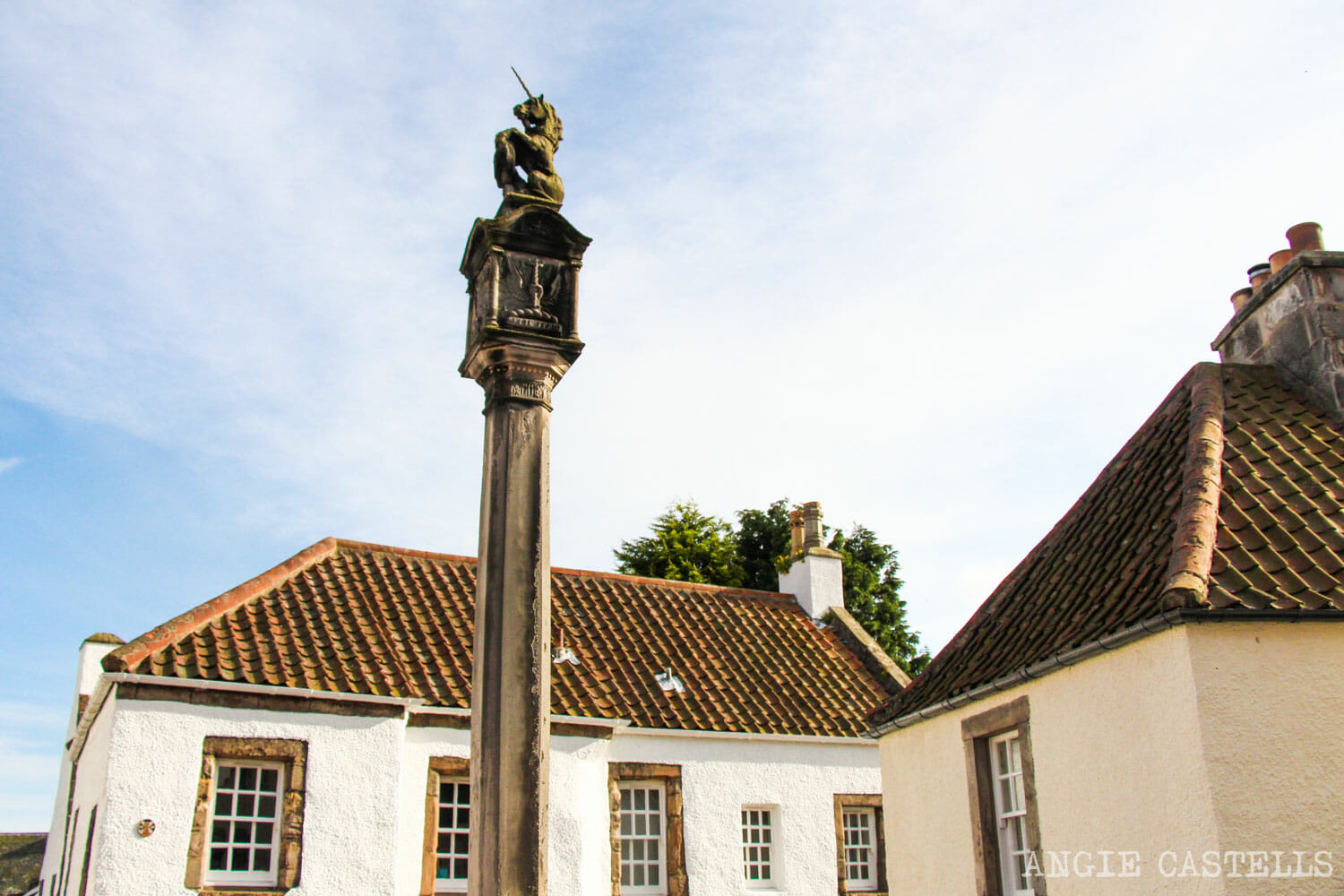 El unicornio, el animal nacional de Escocia - Culross Mercat Cross