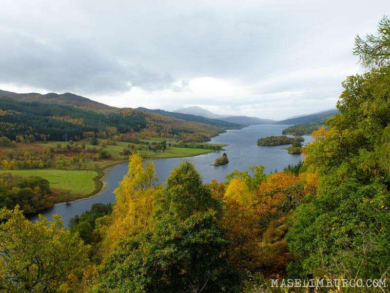Las mejores excursiones para el otoño en Escocia - Pitlochry y Queen's View