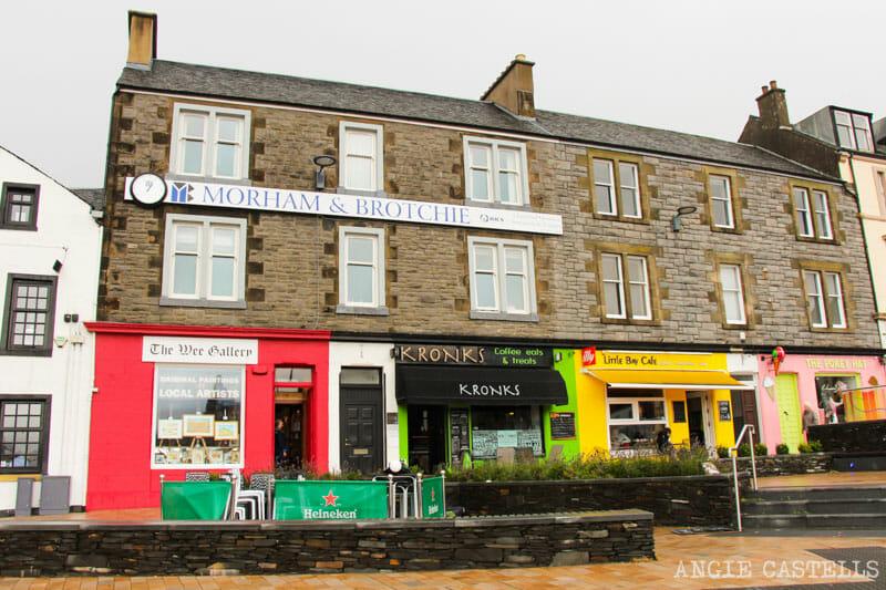 Qué hacer en Oban, en Escocia - Tiendas del paseo marítimo
