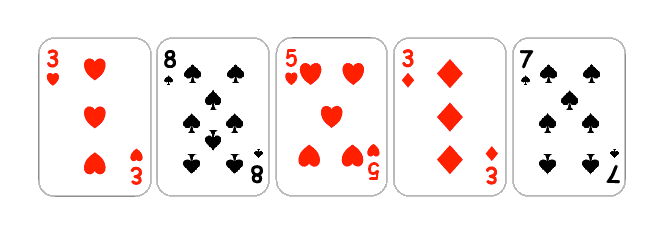 plain 2D looking cards