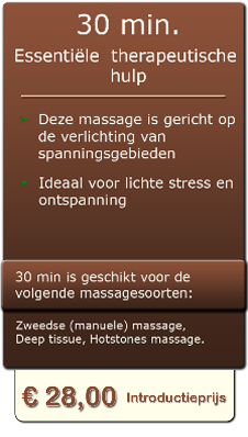 30 min professionele massage in almelo