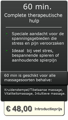 60 min professionele massage in Almelo