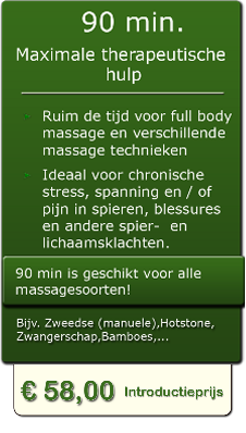 90 min professionele massage in Almelo