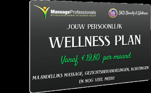Abonnement voor massage € 39,60