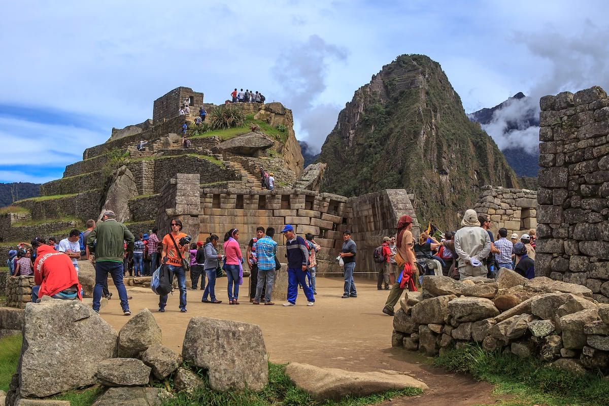Crowds at Machu Picchu