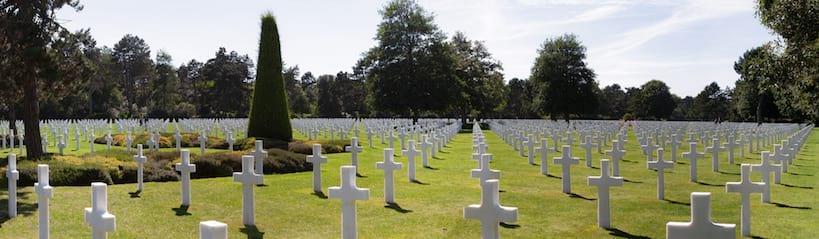 Cimetière américain en Normandie