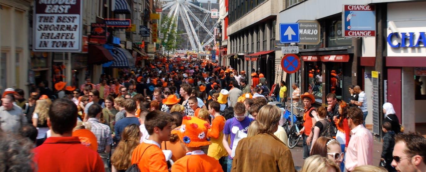 Crowds in Amsterdam