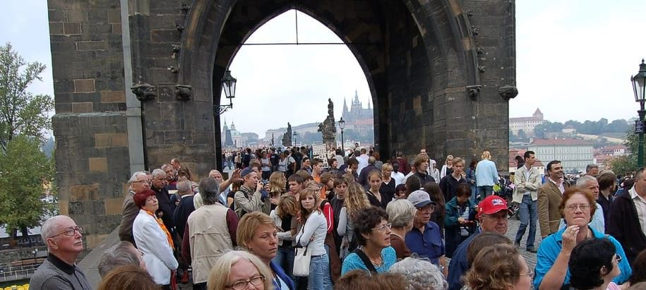 Entrance to the Charles Bridge