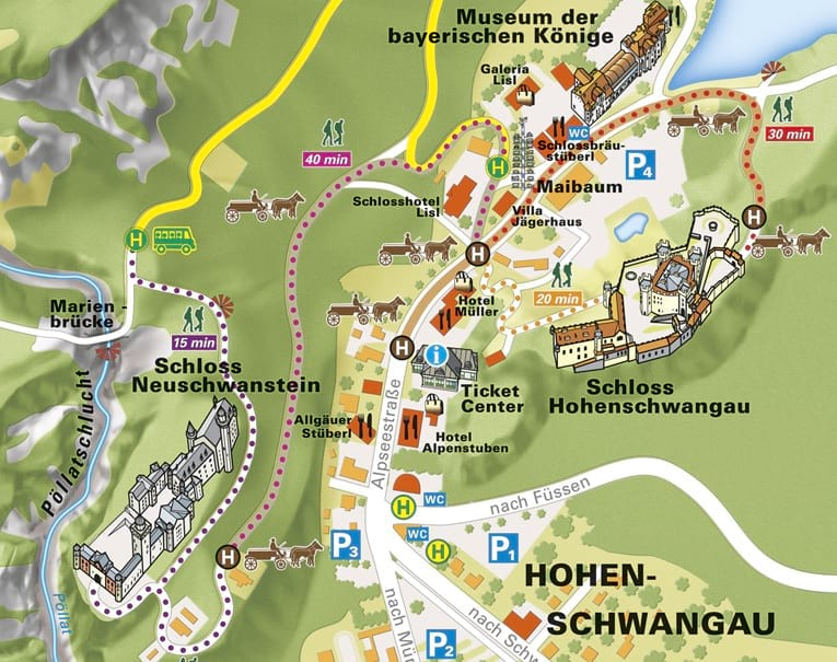 Map Of German Castles.When To Visit The Neuschwanstein Castle Tips To Avoid Queues