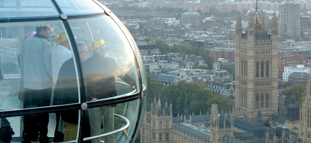 The London Eye view