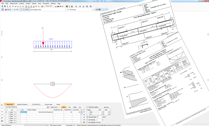 Free Steel and Concrete Beam Designer with detailed engineering report