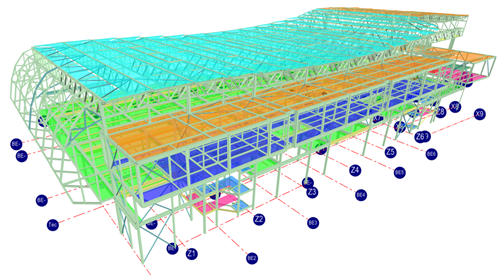 MasterFrame 3D structural analysis model