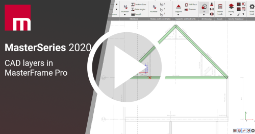 MasterSeries 2020 - CAD Layers in MasterFrame Pro