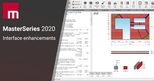 New user interface of the MasterSeries Masonry Design 2020
