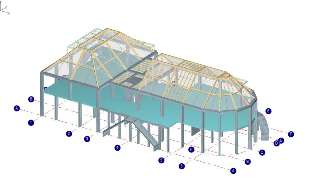 Full multi-material 3d building modelling, including concrete, steel and timber